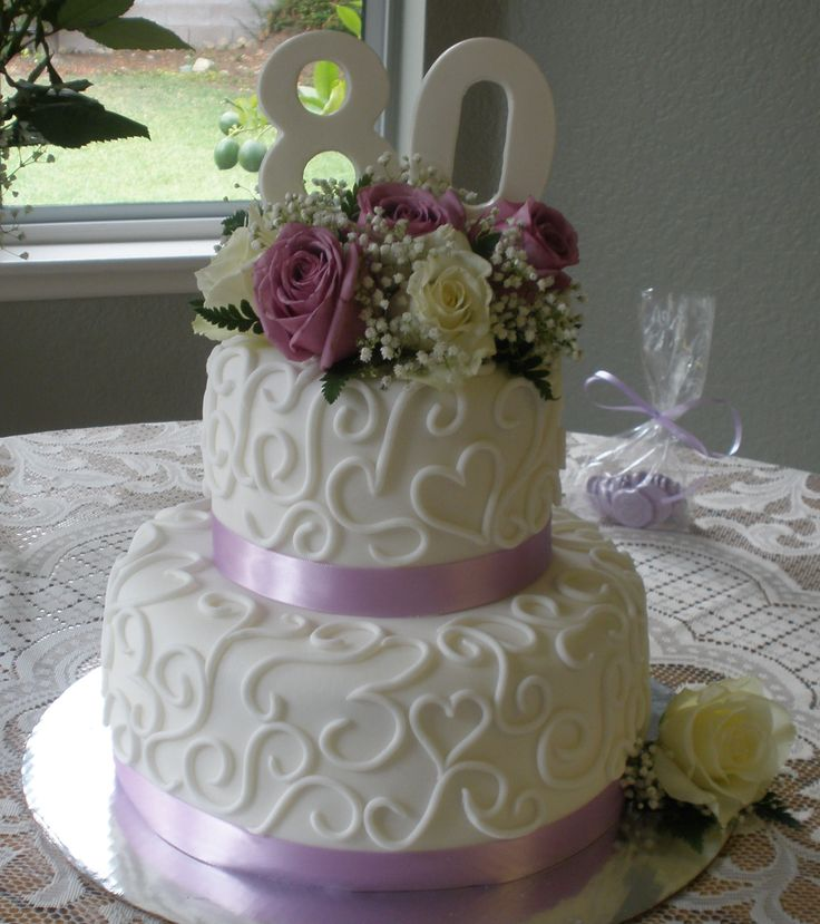 80th Birthday Cake Ideas For Women