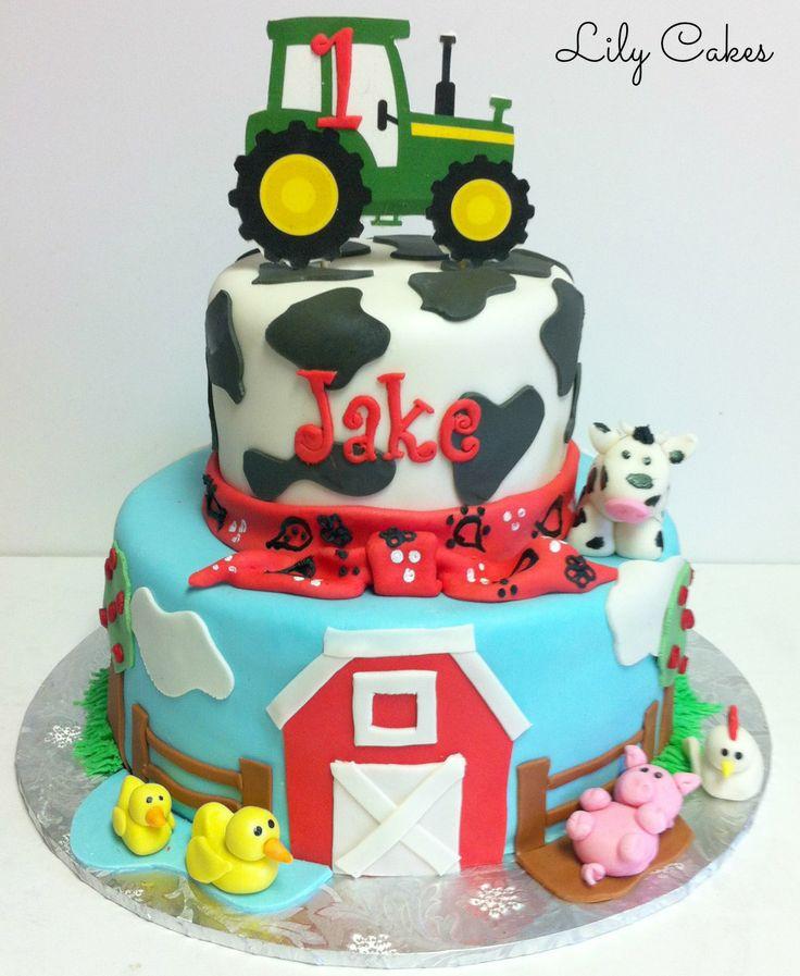 13 Farm Animal Themed Birthday Cakes Photo Buttercream Farm