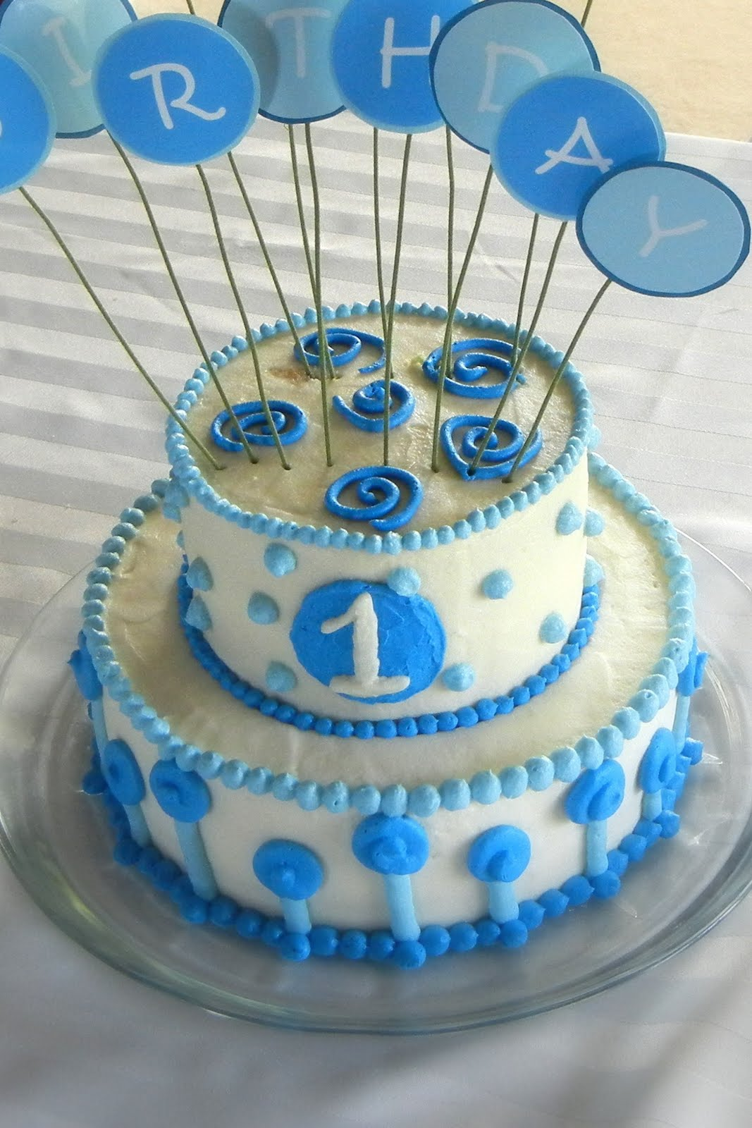 11 Simple Individual Cakes Baby Boy First Bday Photo Birthday Cake