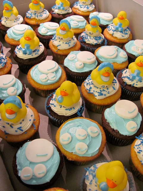 13 Rubber Ducky Baby Shower Boy Cupcakes Photo Rubber Duck Baby