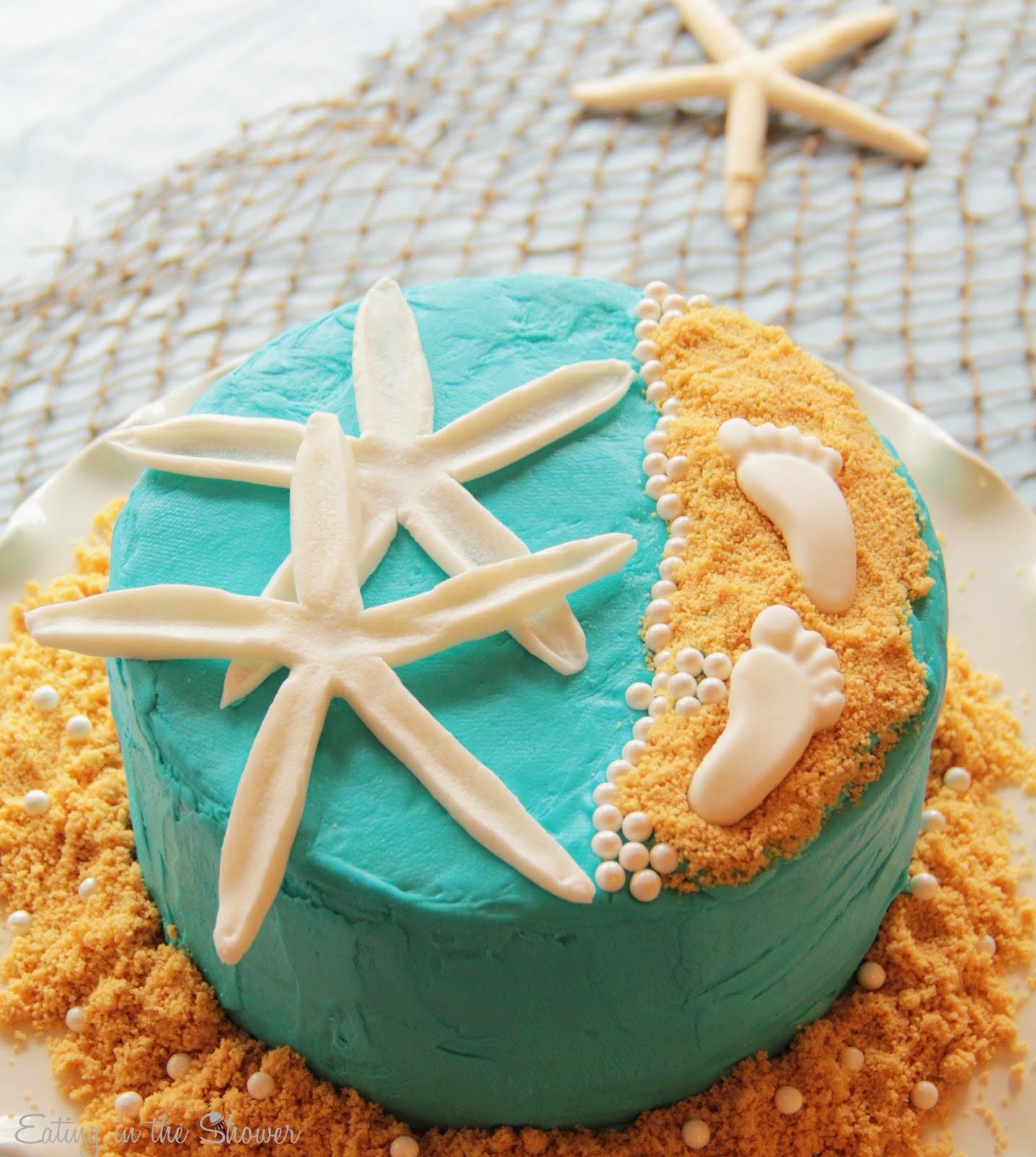 Beach Theme Baby Shower Cake