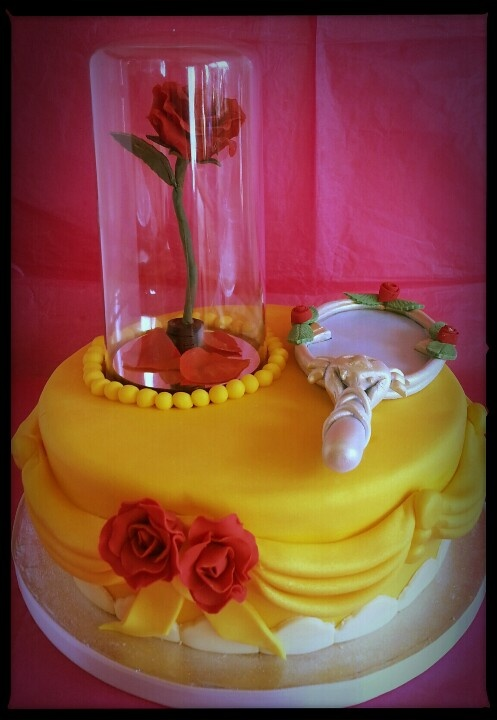 13 Rose Beauty And The Beast Birthday Cakes Photo Beauty And Beast