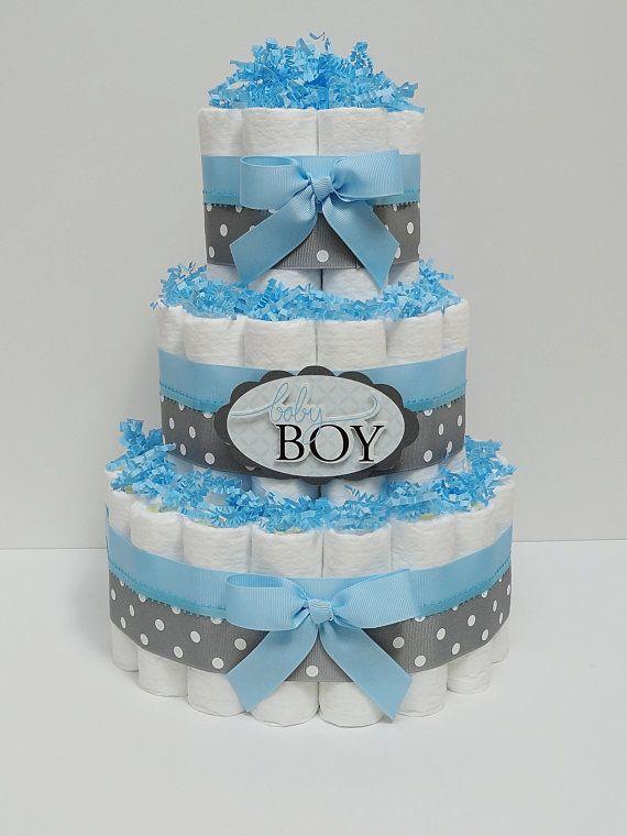 12 Diaper Cakes For Boys Photo Baby Boy Diaper Cakes Centerpieces