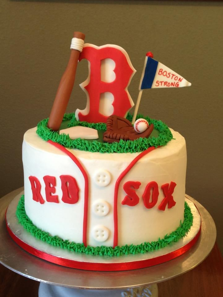 Boston Red Sox Happy Birthday Cake