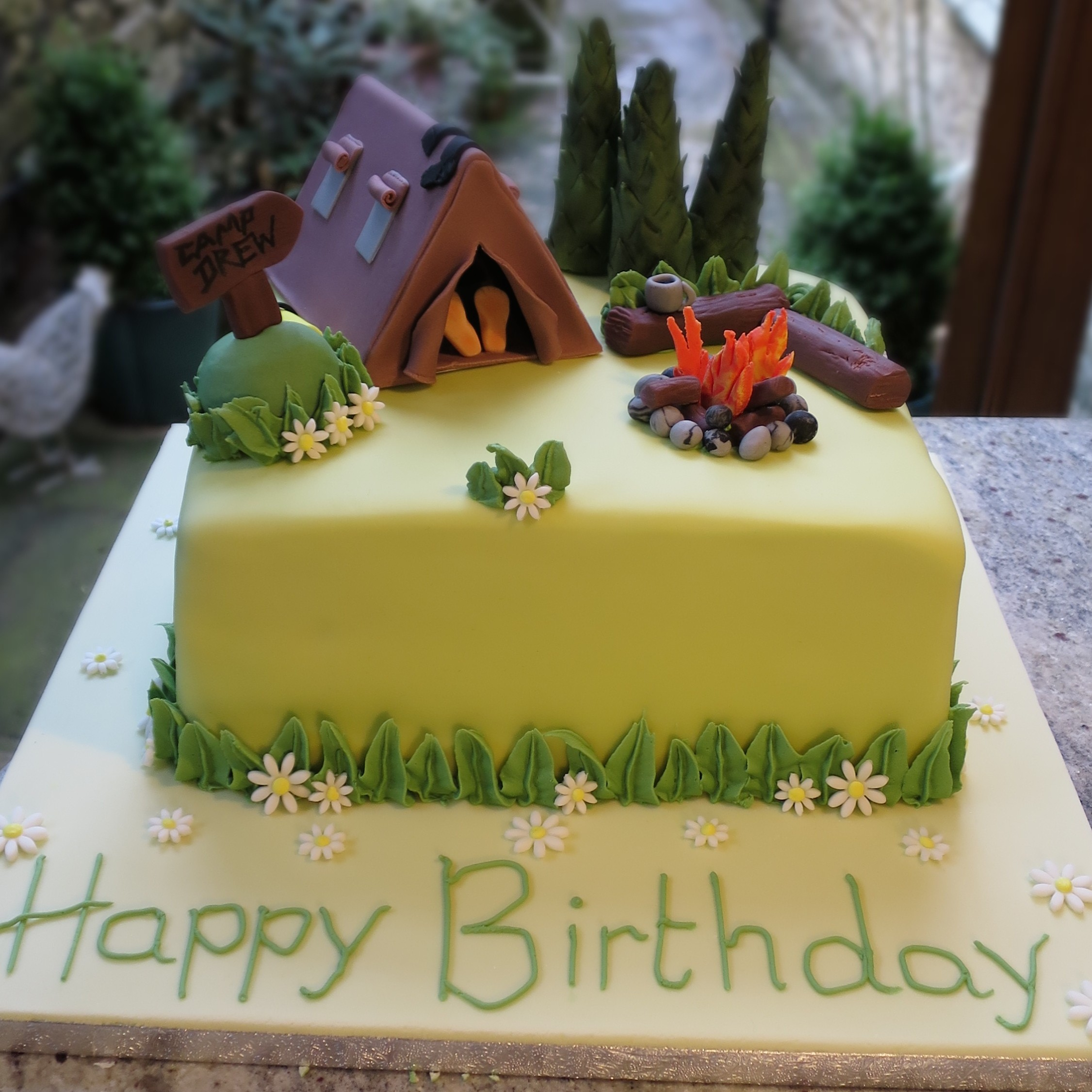 Superb 7 Camping Cakes For Adults Photo Camping Birthday Cake Ideas Personalised Birthday Cards Cominlily Jamesorg