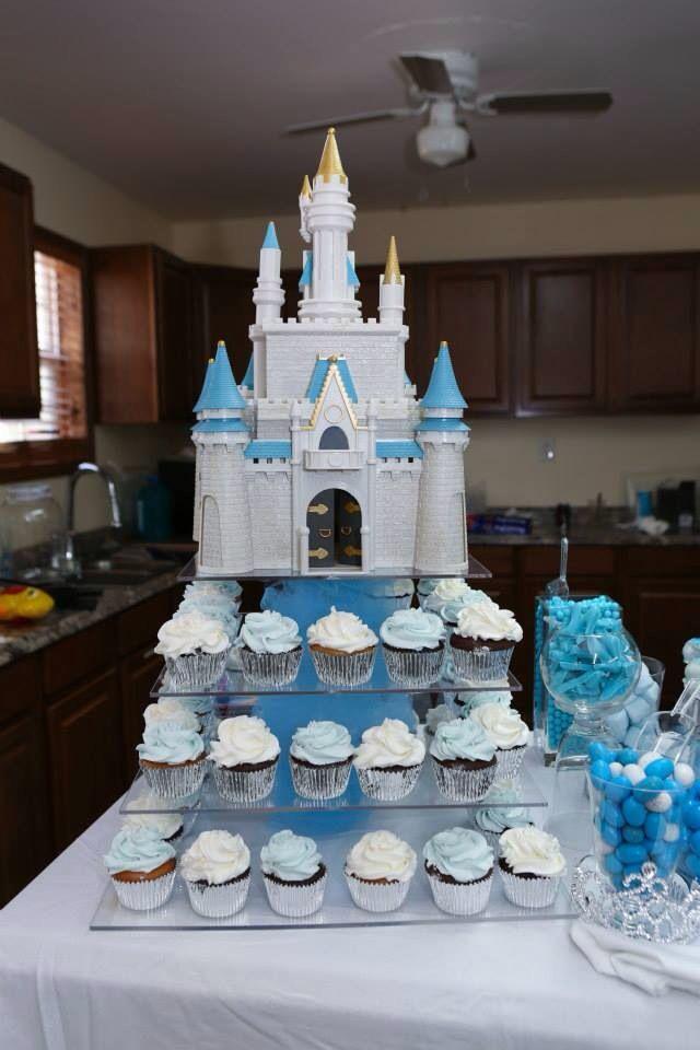 12 Disney Castle Cupcakes Photo Disney Princess Birthday Cakes