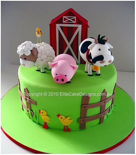 Groovy 10 Farm 1St Birthday Cakes Photo Farm Birthday Cake Farm Funny Birthday Cards Online Alyptdamsfinfo