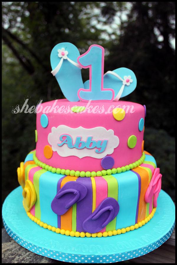 Astounding 13 Flip Flop Birthday Cakes Photo Flip Flop Themed Birthday Cake Birthday Cards Printable Inklcafe Filternl