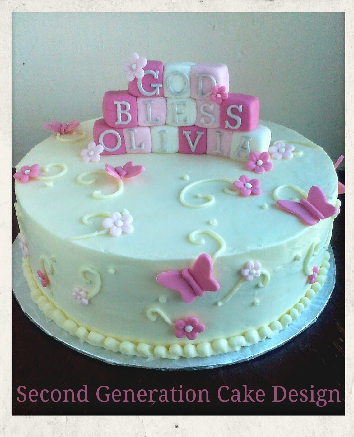 7 Flower And Butterfly Design Cakes Photo Birthday Cake With