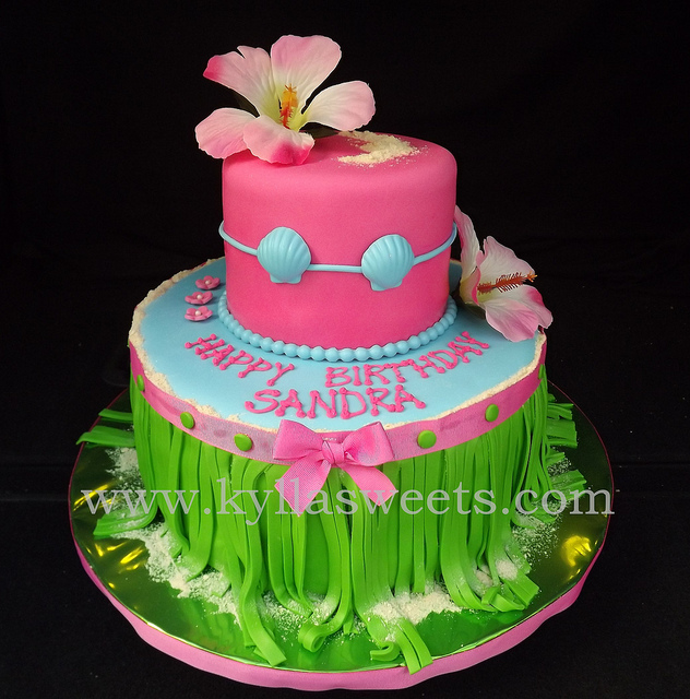 Miraculous 12 Hawaiian Luau Cakes Photo Hawaiian Luau Birthday Cake Ideas Funny Birthday Cards Online Elaedamsfinfo
