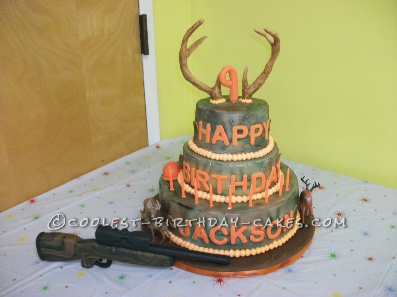 12 Hunting Birthday Cakes For Little Boys Photo Hunting Camo