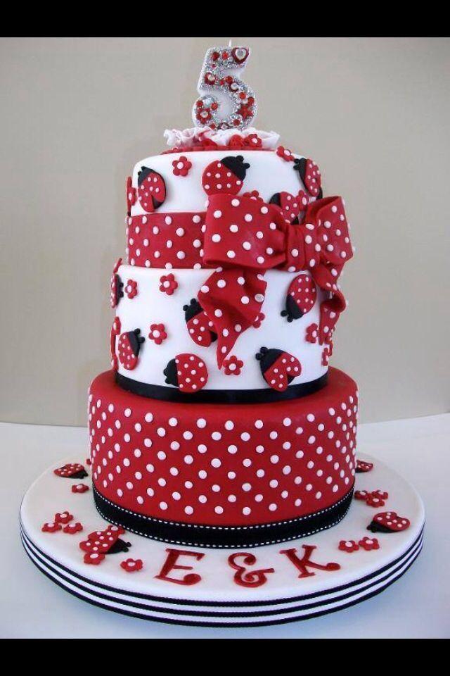 12 Lady Bug Birthday Cakes Designs Photo Lady Bug Birthday