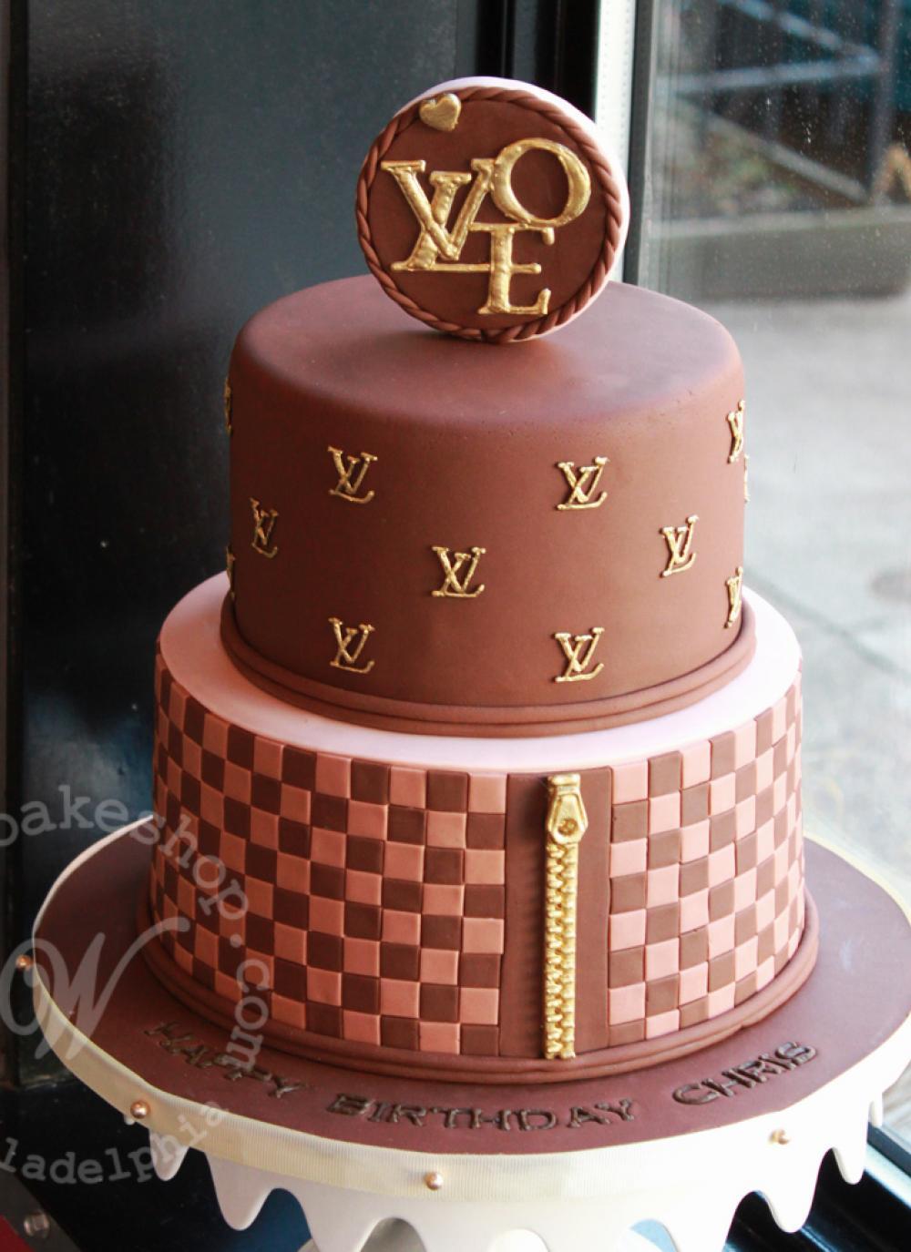 8 Louis Vuitton Birthday Cakes Photo Louis Vuitton Birthday Cake