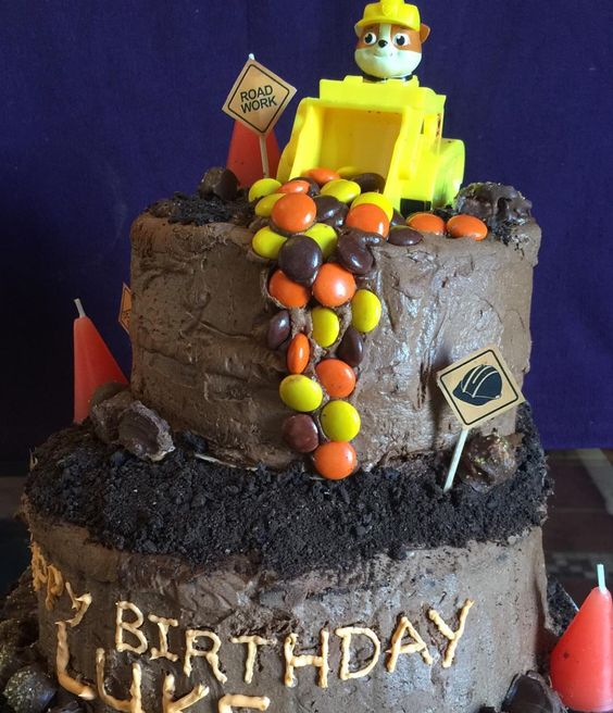 Rubble PAW Patrol Birthday Cake