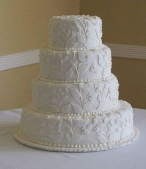 White Wedding Cake With Icing