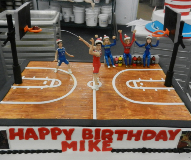 Miraculous 13 Cool Birthday Cakes Basketball Court Photo Basketball Court Funny Birthday Cards Online Kookostrdamsfinfo