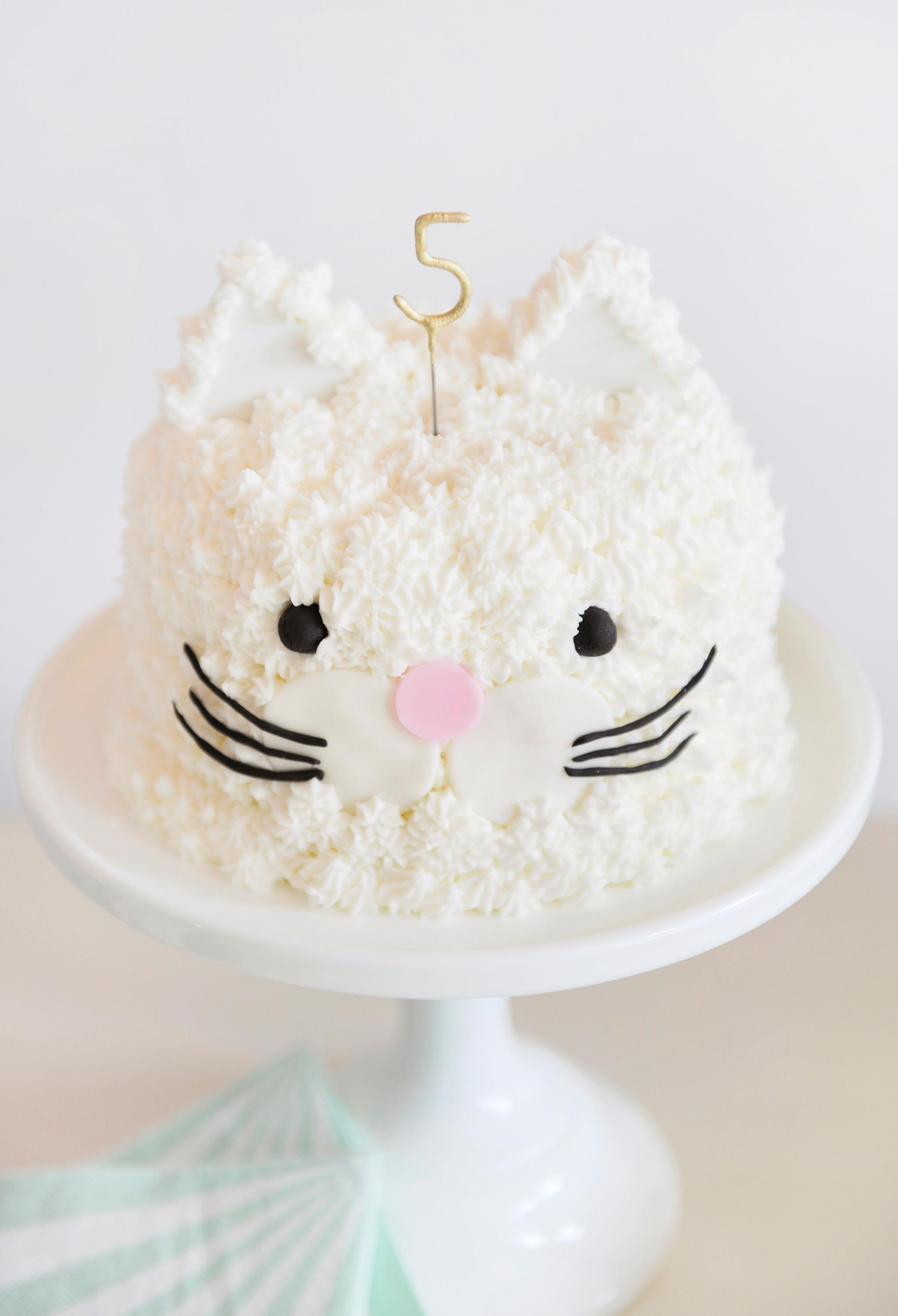 Cat Themed Birthday Party Cake