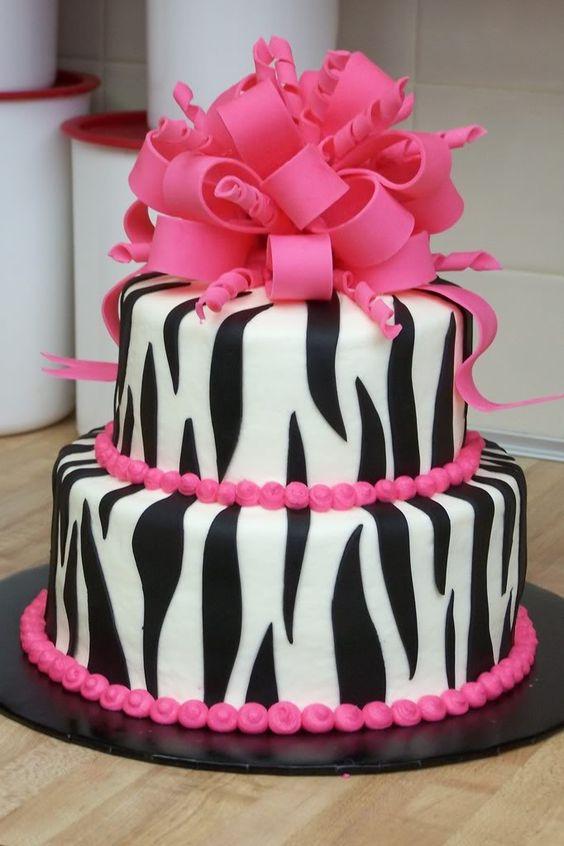 9 Cute Zebra Cakes Photo Cute Pink Zebra Birthday Cake Pink Zebra