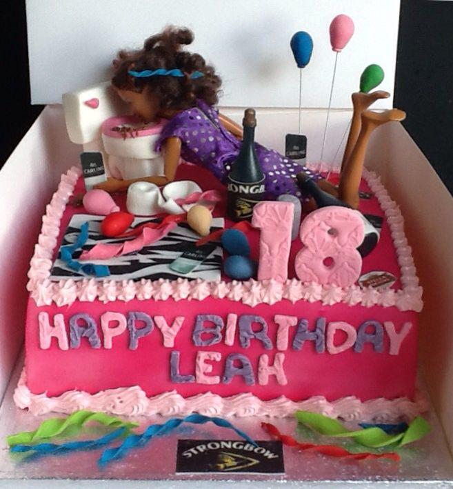 11 Drunken Barbie Cakes 21st Birthday Let39s Go Photo