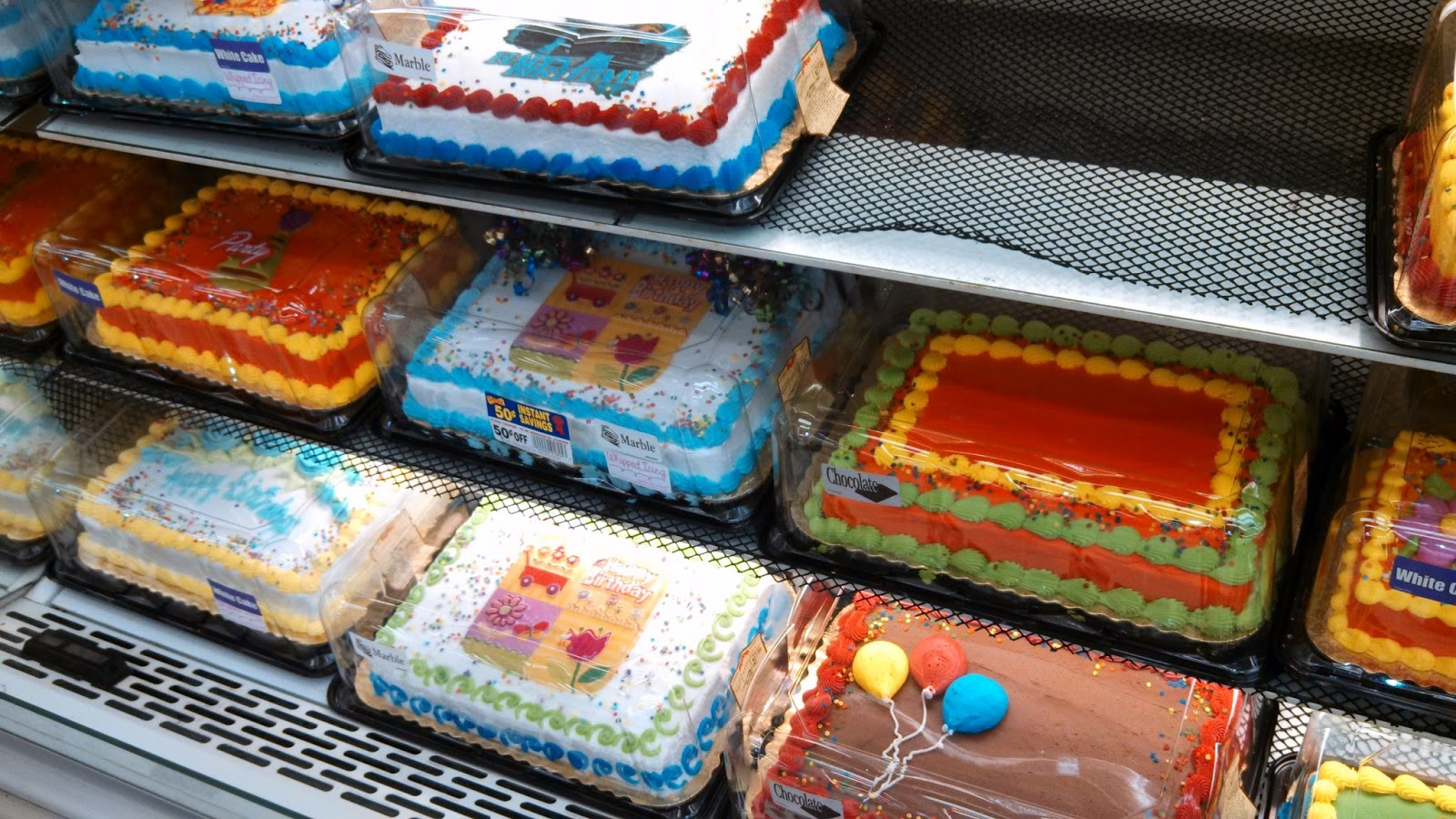 Grocery Store Bakery Cakes