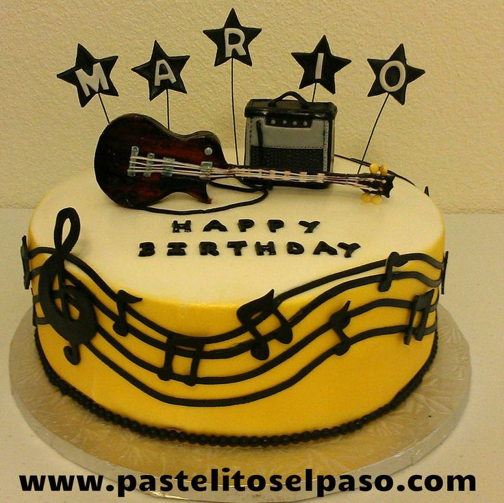 10 Jim Guitar Birthday Cakes Photo