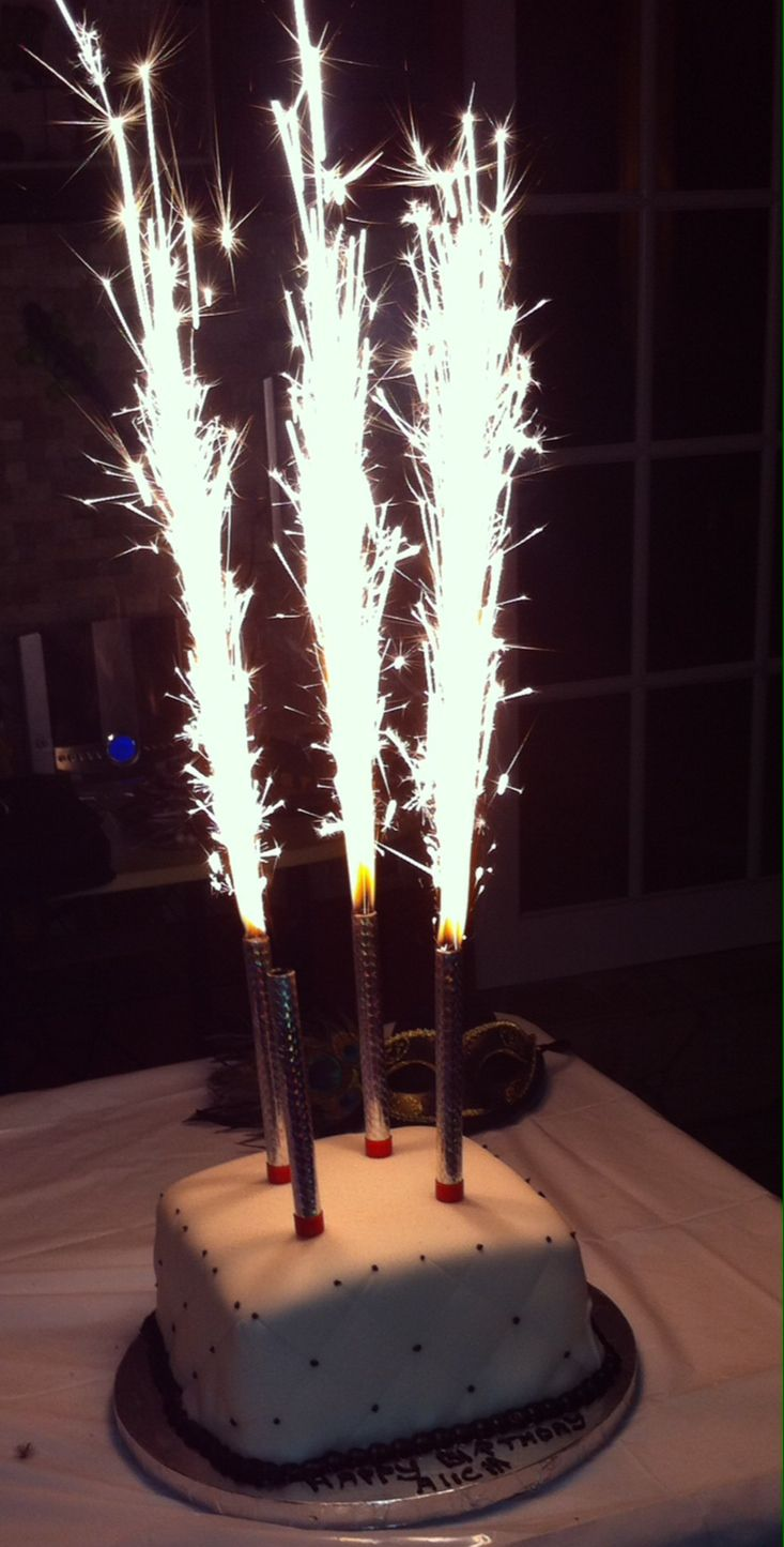 Happy Birthday Cake Sparkler Candles