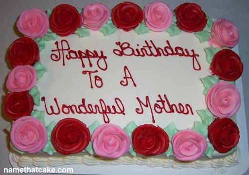 Fine 5 Custom Birthday Cakes For Mom Photo Mom Birthday Cakes Happy Personalised Birthday Cards Paralily Jamesorg