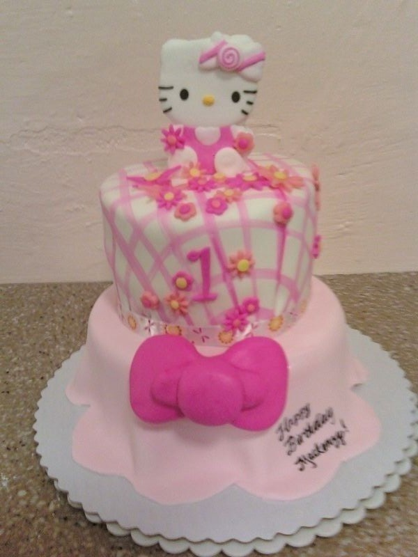 9 Hello Kitty For Fondant Cakes For Girls 1st Birthday Photo Hello