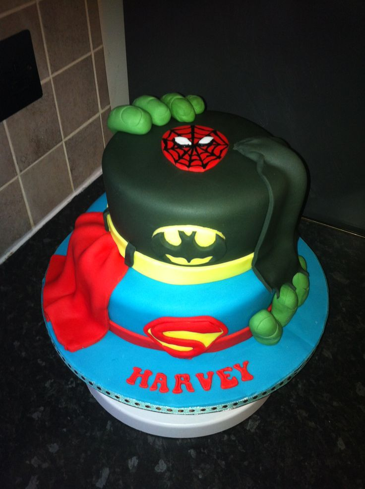 12 Marvel Hero Cakes Photo Marvel Super Heroes Cake Super Hero