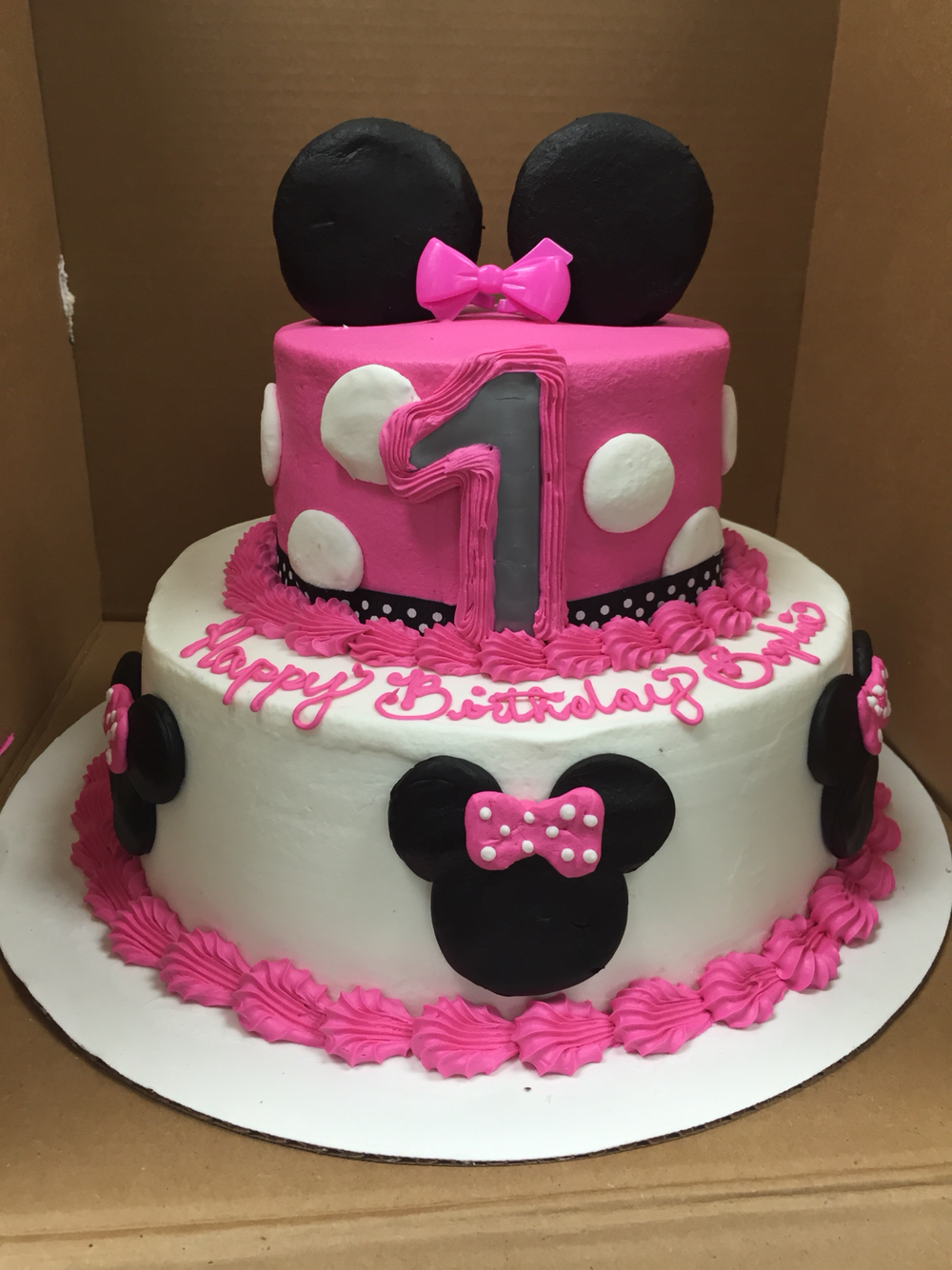 12 Minnie Mouse B Day Cakes At Wal Mart Photo Minnie Mouse Cake
