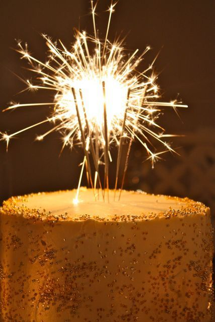 Sparkler Birthday Cake With Candles Via New Years Eve