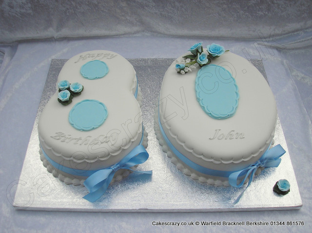 Number 80 Birthday Cake