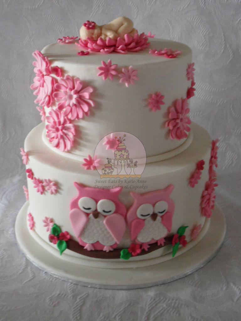 9 Owl Themed Shower Cakes Photo Owl Baby Shower Cake Owl Baby