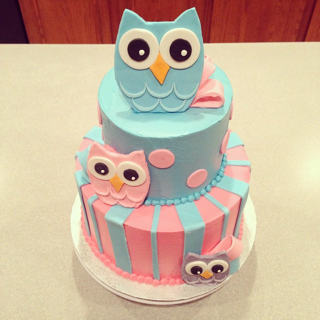 11 Owl Themed Baby Shower Cake Cupcakes Photo Owl Baby Shower Cake