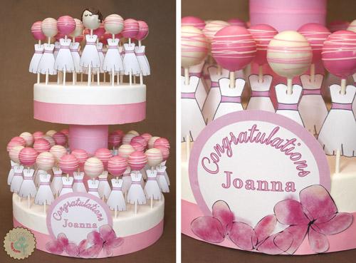 pink bridal shower cake pops