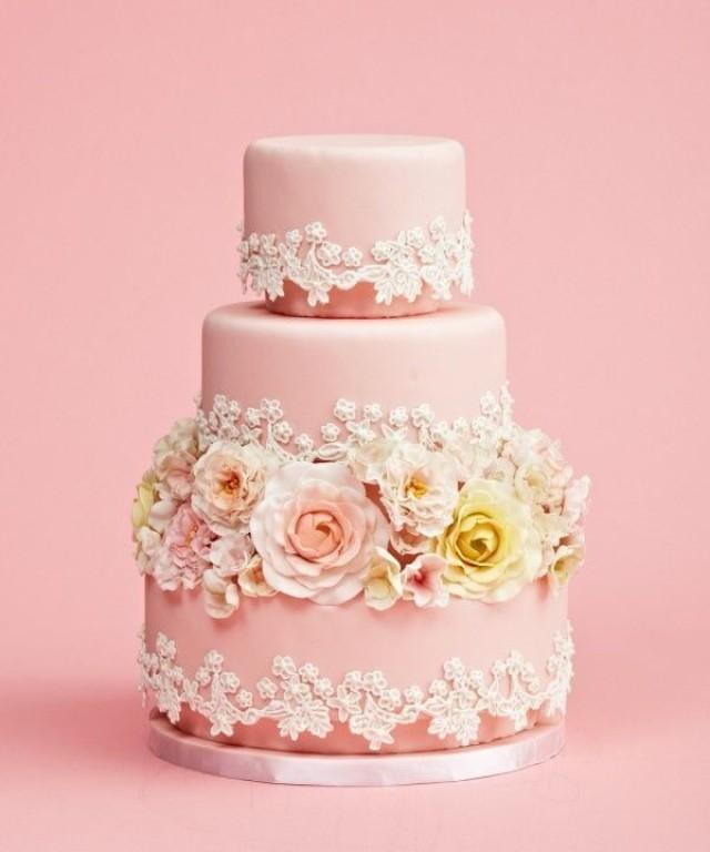 Pinterest Pink Wedding Cakes