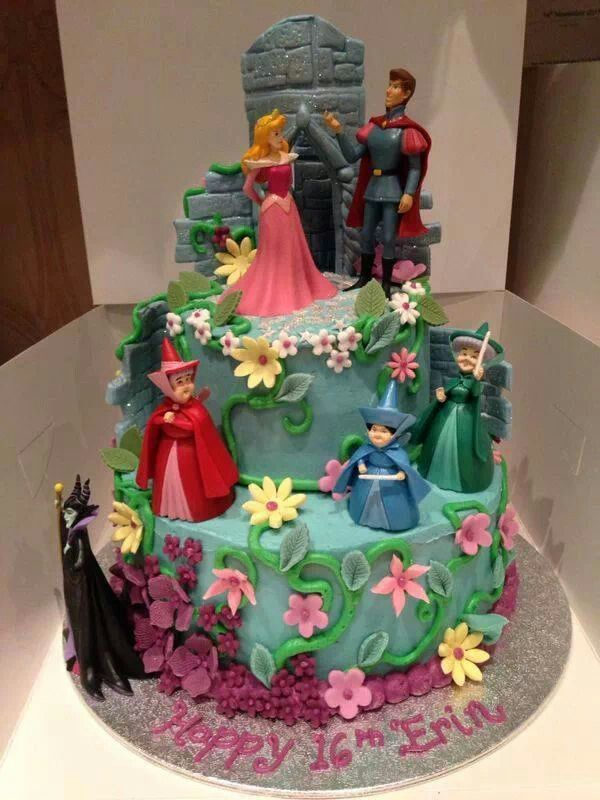 Cool 11 Disney Sleeping Beauty Cakes Photo Sleeping Beauty Birthday Personalised Birthday Cards Paralily Jamesorg