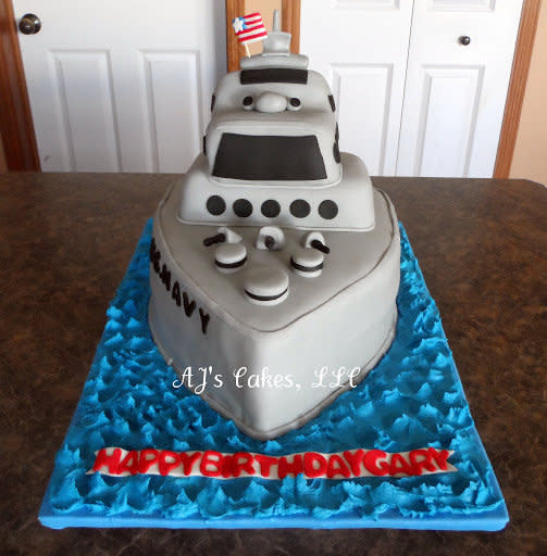 Wondrous 9 Navy Boat Cupcakes Cakes Photo Navy Ship Birthday Cake Us Funny Birthday Cards Online Fluifree Goldxyz