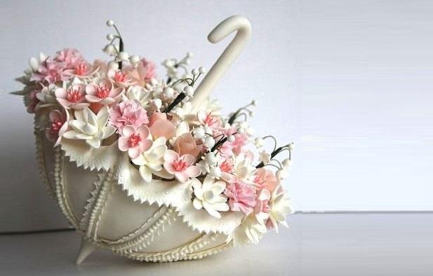 vintage bridal shower cake