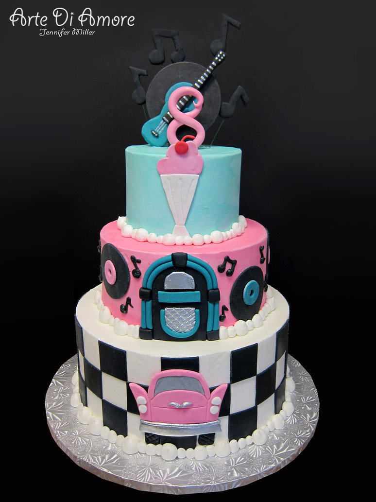 50s Birthday Cake Ideas
