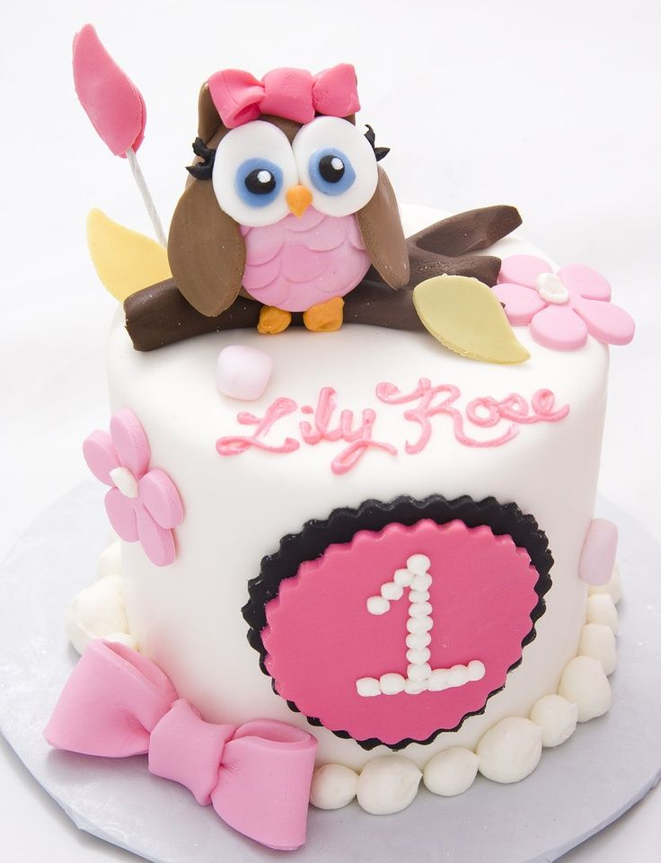 13 Owl Birthday Cakes For Girls Photo Baby Girl Owl Birthday Cake