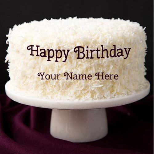 Birthday Cake With Name Happy Birthday Cake Maker
