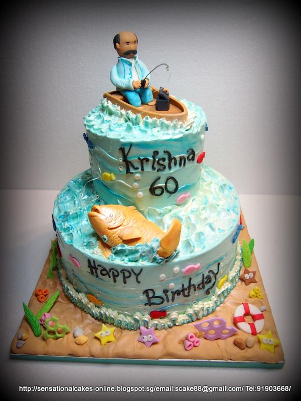 9 Fisherman Sheet Cakes Photo Bass Fishing Birthday Cake Hunting