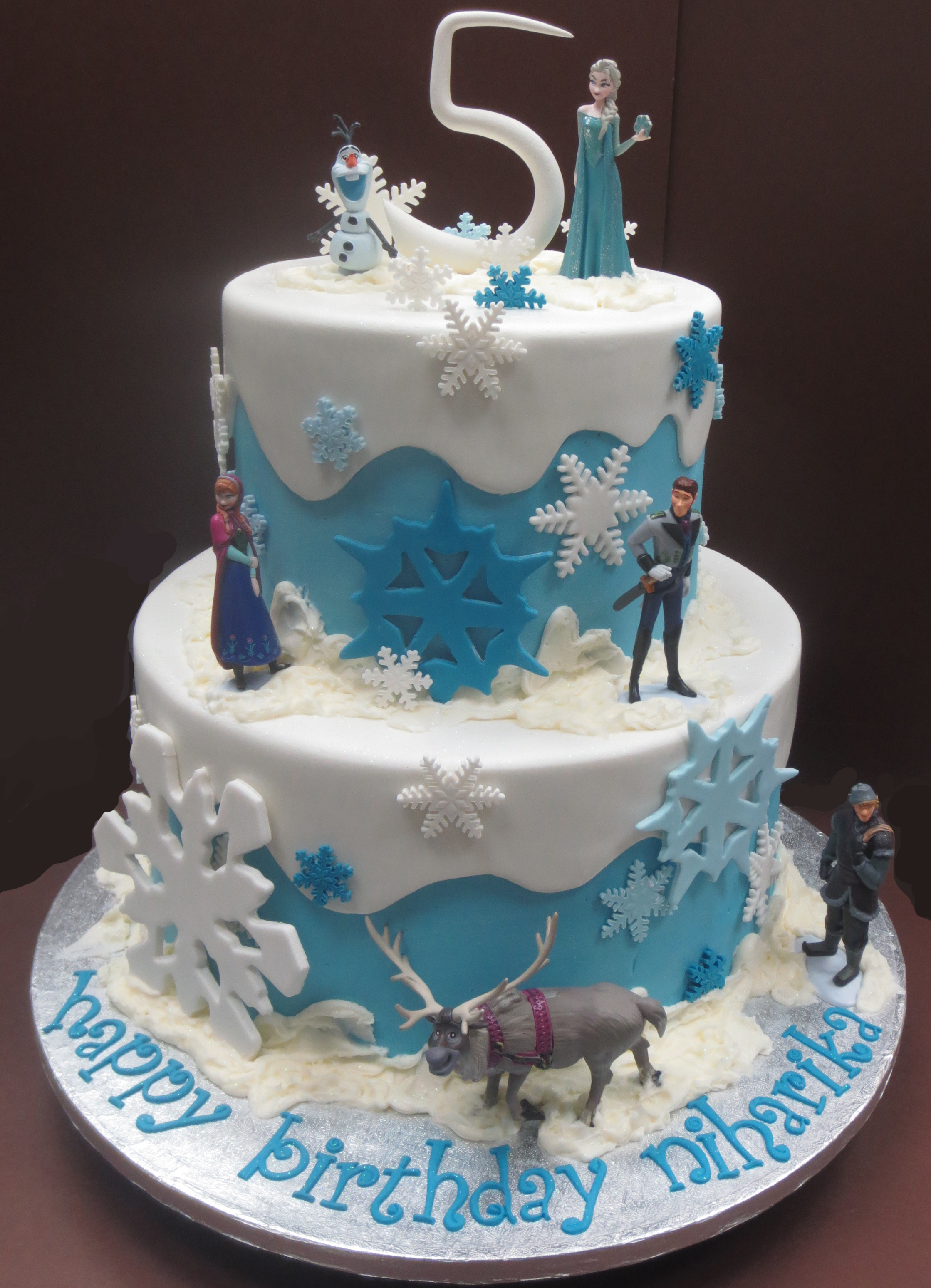 Stupendous 13 Frozen Movie Birthday Cakes Photo Frozen Birthday Cake Personalised Birthday Cards Epsylily Jamesorg