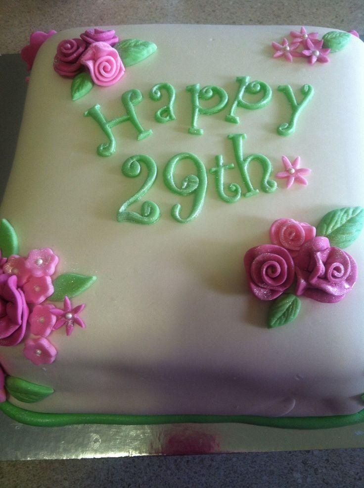 9 29 Anniversary Cakes Photo Happy 29th Birthday Cake 25 Birthday