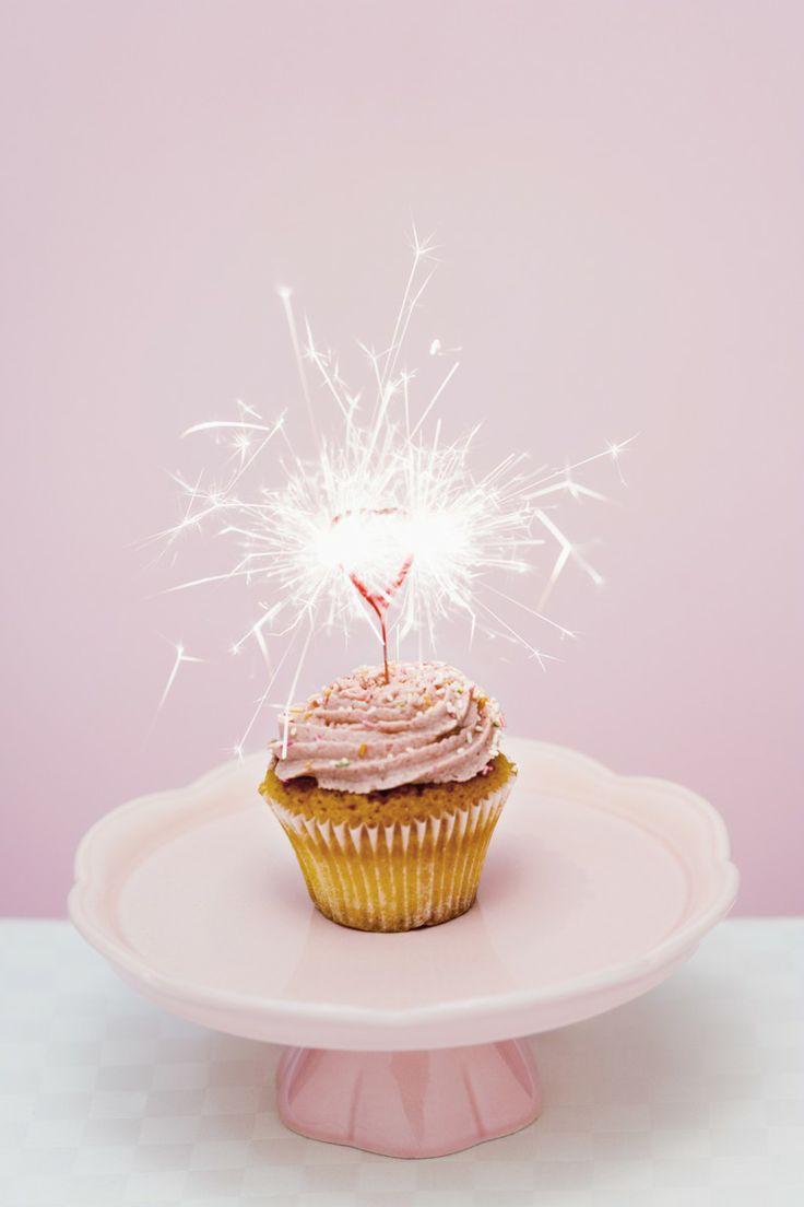 Happy Birthday Cupcake Sparkler Candle
