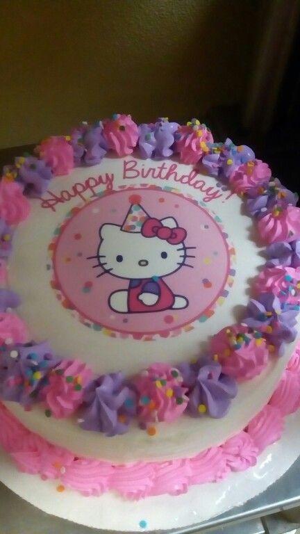 9 Summer Birthday Cakes Hello Kitty Photo Hello Kitty Birthday