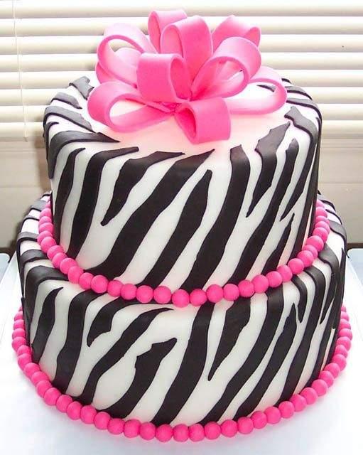 Peachy 7 Zebra Birthday Cakes For Women Photo Pink Zebra Birthday Cake Birthday Cards Printable Inklcafe Filternl