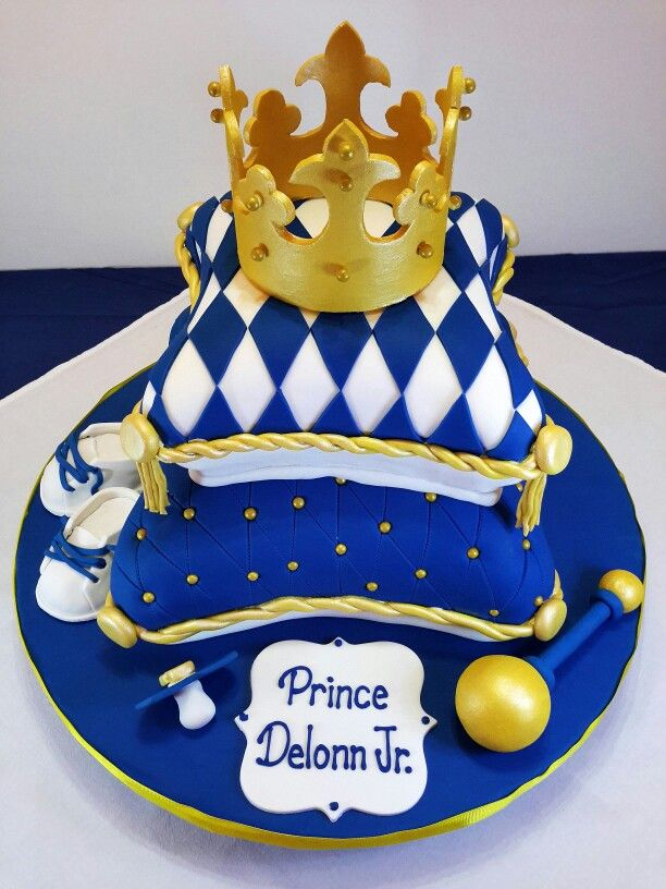 11 Royal Baby Shower Pillow Cakes Photo Royal Prince Baby Shower