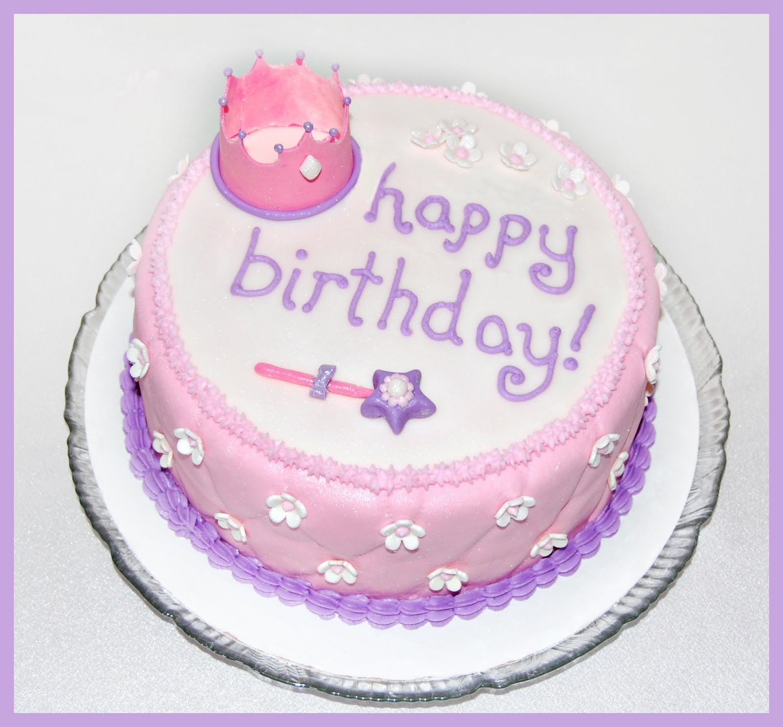 Simple Princess Birthday Cake